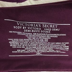 Victoria's Secret Intimates & Sleepwear - Victoria's Secret Body by Victoria Bra